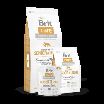 Brit Care Grain-free Senior&Light Salmon & Potato 1 kg kutyatáp