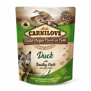 Carnilove Dog Adult tasakos Paté - kacsa mezei komócsinnal 300g
