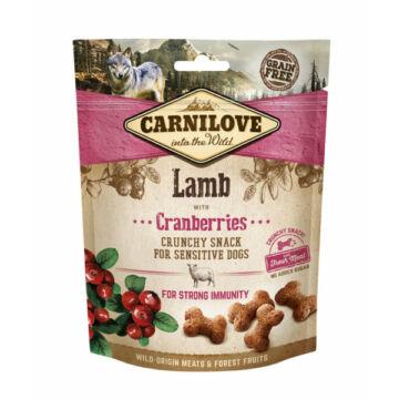 Carnilove Dog Crunchy Snack Bárányhús Vörösáfonyával 200g
