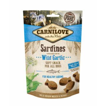 Carnilove Dog Semi Moist Snack Szardínia Fokhagymával 200g