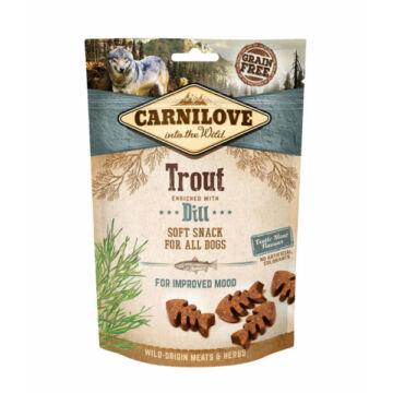 Carnilove Dog Semi Moist Snack Pisztráng Kaporral 200g