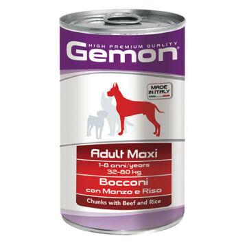 Gemon Dog Adult Maxi konzerv Marha1250g