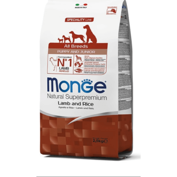 Monge All Breed Puppy and Junior Lamb and Rice 12kg kutyatáp