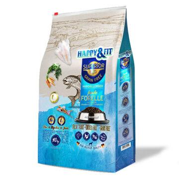 Happy&Fit Superior Grain Free Hipoallergén (pisztráng, halolaj, glükozamin, kondroitin) 10 kg