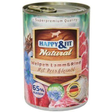Happy&Fit Natural kölyök, bárány, marha, rizs 400g