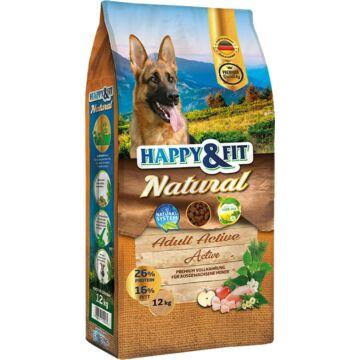 Happy&Fit Natural Adult Active 12kg kutyatáp