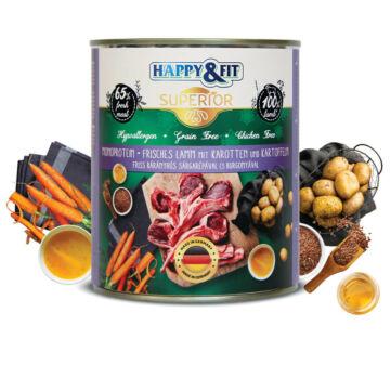Happy&Fit Superior 100% Monoprotein– Friss bárányhús sárgarépával és burgonyával 400g