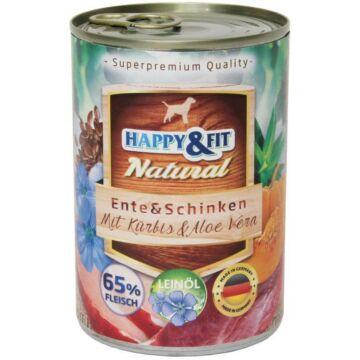 Happy&Fit Natural felnőtt, kacsa, sonka, sütőtök 400g