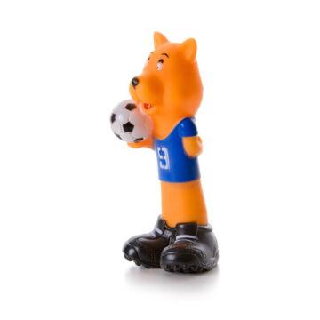JK csipogó focista kutya 16.5cm
