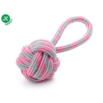 Kötéllabda húzókával pink 9cm
