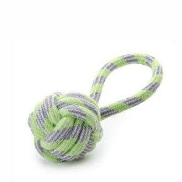 Kötéllabda húzókával zöld 9cm
