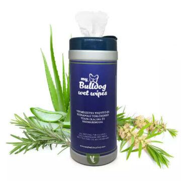 MyBulldog természetes nedves törlőkendő teafa és rozmaring illattal 75 db