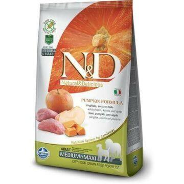 N&D Dog Grain Free vaddisznó&alma sütőtökkel adult medium/maxi 2,5kg kutyatáp