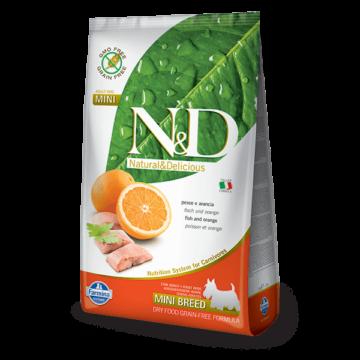 N&D Grain Free hal&narancs adult mini 800g kutyatáp
