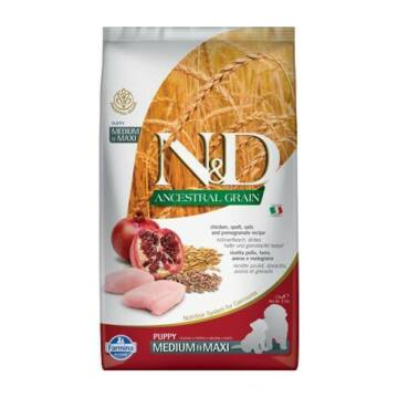 N&D Dog Ancestral Grain csirke, tönköly, zab&gránátalma adult medium&maxi 2,5kg