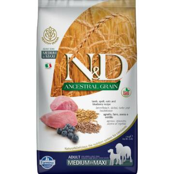 N&D Dog Ancestral Grain bárány&áfonya Adult medium&maxi 2,5kg