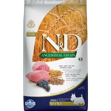 N&D Dog Ancestral Grain bárány, tönköly, zab&áfonya adult mini 800g