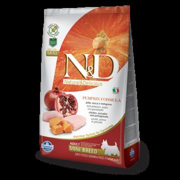 N&D Dog Grain Free csirke&gránátalma sütőtökkel adult mini 800gr kutyatáp