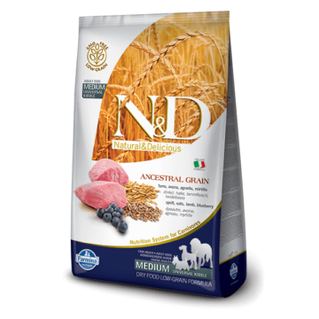 N&D Low Grain Dog Bárány&áfonya adult medium 2,5kg kutyatáp