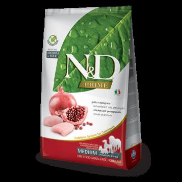 N&D Prime csirke&gránátalma adult medium/maxi 12kg kutyatáp