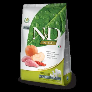 N&D Prime vaddisznó&alma adult medium/maxi 2,5kg kutyatáp