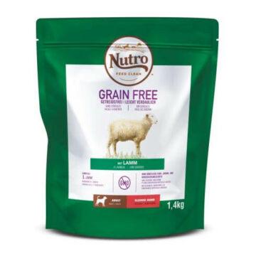 NUTRO GRAIN FREE száraztáp bárányhússal kistestű felnőtt kutyáknak 1,4 kg
