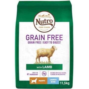 NUTRO GRAIN FREE száraztáp bárányhússal kölyök és junior kutyáknak 11,5 kg