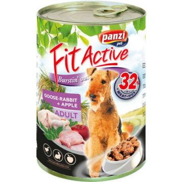 Panzi FitActive Adult Dog Libával, Nyúllal És Almával konzerv 1240gr