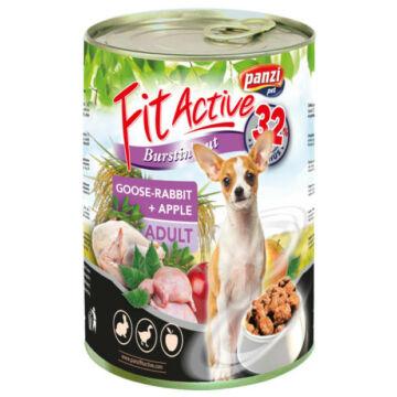 Panzi FitActive Adult Dog Konzerv libával, nyúllal és almával 415gr