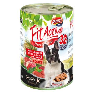Panzi FitActive Adult Dog Konzerv marhával, májjal és bárányhússal 415gr