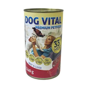 Dog Vital konzerv beef&liver&pasta 1240gr