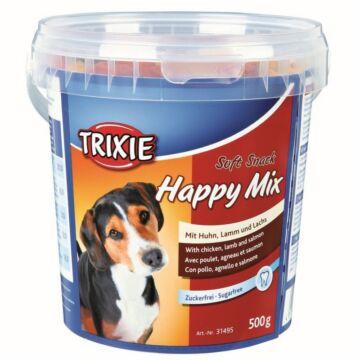 Trixie Jutalomfalat Soft Snack Happy Mix Vödrös 500gr