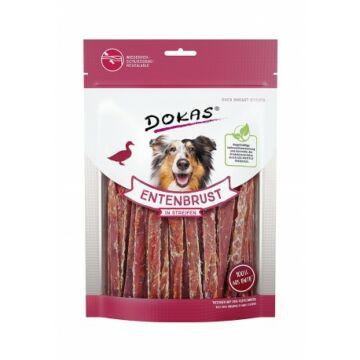 Dokas szárított kacsamell csíkokban jutalomfalat kutyáknak 250g