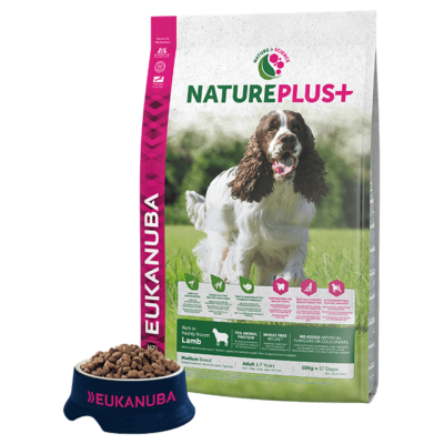 Eukanuba Natureplus+ Adult Medium Lamb 14kg kutyatáp