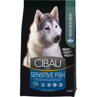 CIBAU Medium & Maxi Sensitive Fish 12+2 kg kutyatáp