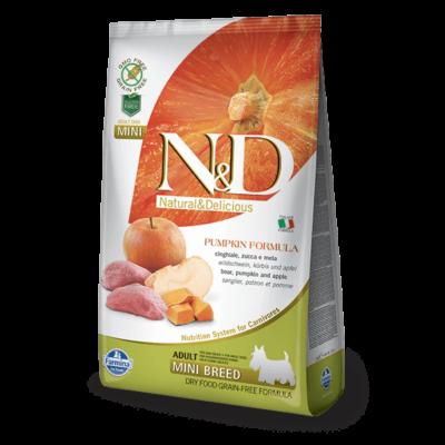 N&D Dog Grain Free vaddisznó&alma sütőtökkel adult mini 800g kutyatáp