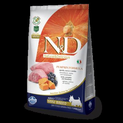 N&D Dog Grain Free bárány&áfonya sütőtökkel adult mini 800g kutyatáp