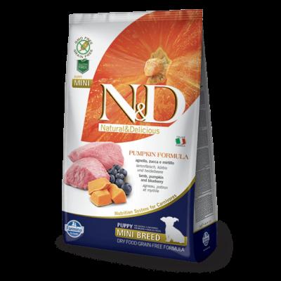 N&D Grain Free bárány&áfonya sütőtökkel puppy mini 7kg
