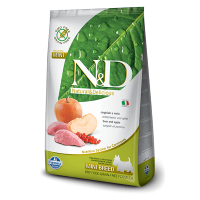 N&D Grain Free vaddisznó&alma adult mini 800g kutyatáp