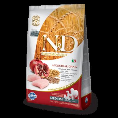 N&D Grain Free csirke&gránátalma adult medium 12kg kutyatáp