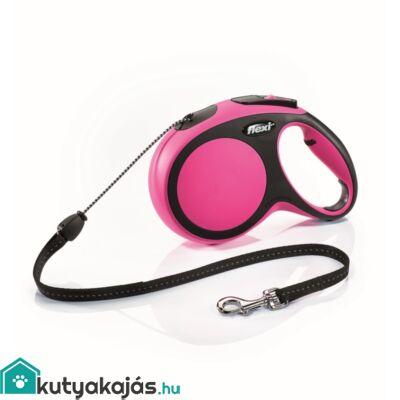 Flexi új Comfort M zsinór 8m,20kgig pink