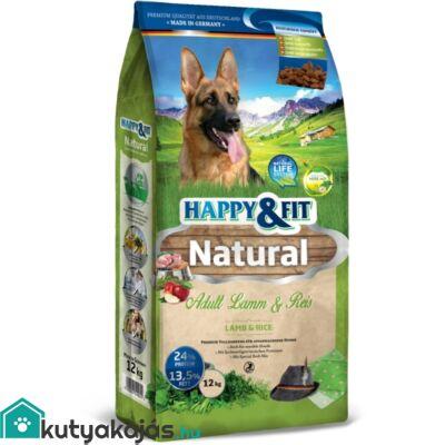Happy&Fit Natural Adult Lamm&Reis 12kg kutyatáp