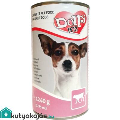 Dolly Dog Konzerv Borjú 1240g kutyatáp