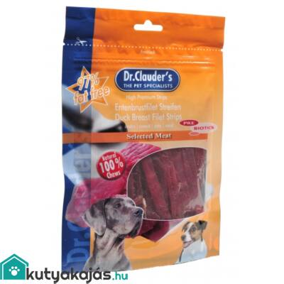 DrClauders Dog Jutalomf Premium Kacsamell Csíkok 80g