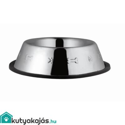 Tál Fém Etető Gumiperemes, Nyomott Mintás 2,350l / 25cm