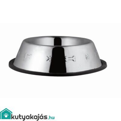 Tál Fém Etető Gumiperemes, Nyomott Mintás 0,900l / 18cm