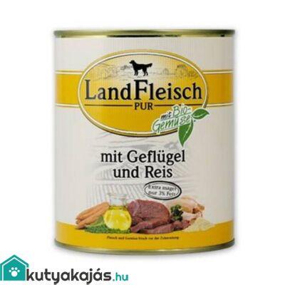 Landfleisch Dog Konzerv Csirke + Rizs 800g kutyatáp