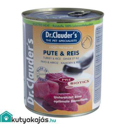 DrClauders Dog Konzerv Selected Meat Pulyka&rizs 800g