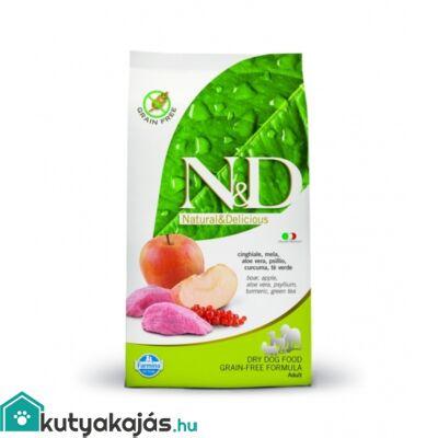N&D Grain Free vaddisznó&alma adult medium 12kg kutyatáp