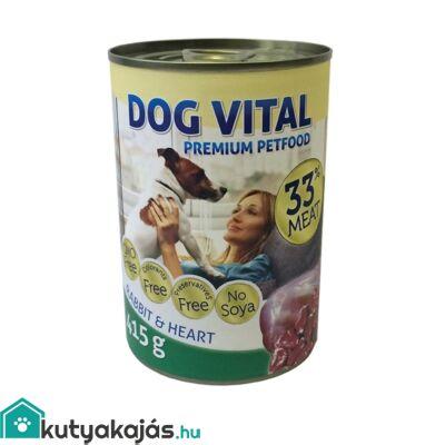 Dog Vital konzerv rabbit&heart 415gr